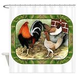 Barnyard Game Fowl Shower Curtain