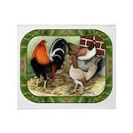 Barnyard Game Fowl Throw Blanket