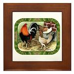 Barnyard Game Fowl Framed Tile