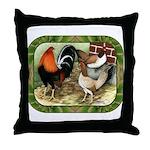 Barnyard Game Fowl Throw Pillow