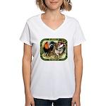 Barnyard Game Fowl Women's V-Neck T-Shirt