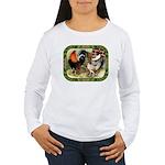 Barnyard Game Fowl Women's Long Sleeve T-Shirt
