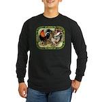 Barnyard Game Fowl Long Sleeve Dark T-Shirt