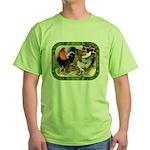 Barnyard Game Fowl Green T-Shirt