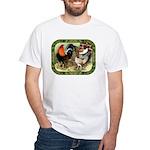 Barnyard Game Fowl White T-Shirt