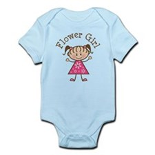 Flower Girl Stick Figure Onesie