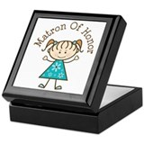 Matron of Honor Stick Figure Keepsake Box