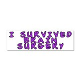 I survived brain surgery - Car Magnet 10 x 3