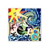 "Sunshine & Jax Square Sticker 3"" x 3&"