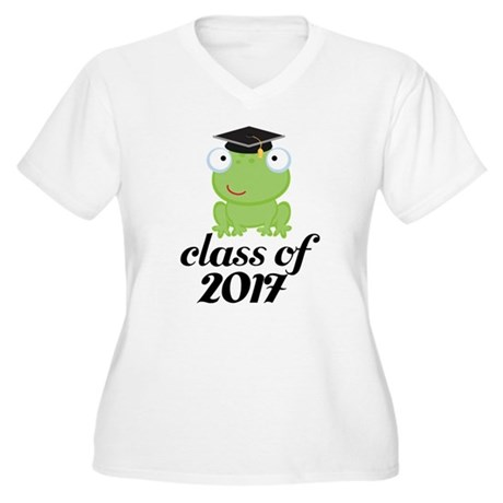 Class of 2017 Frog Women's Plus Size V-Neck T-Shir