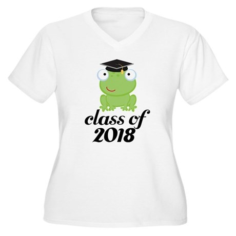 Class of 2018 Frog Women's Plus Size V-Neck T-Shir