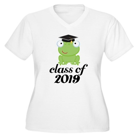 Class of 2019 Frog Women's Plus Size V-Neck T-Shir