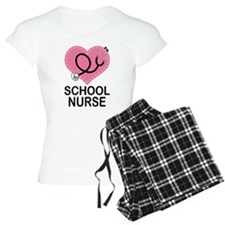 School Nurse Heart Pajamas