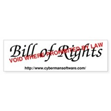 Bill of Rights: Void by Law Bumper Sticker