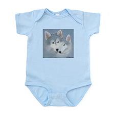 Blue Huskies Infant Bodysuit