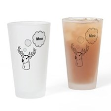 MOOse? Deer? Who knows... Drinking Glass