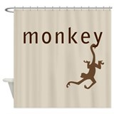 Classic Monkey Shower Curtain