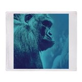 Blue Gorilla Throw Blanket