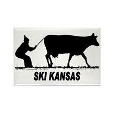 Ski Kansas Rectangle Magnet (100 pack)