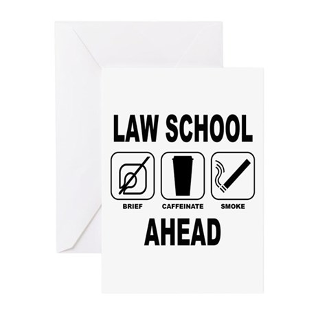 Law School Ahead 2 Greeting Cards (Pk of 20)