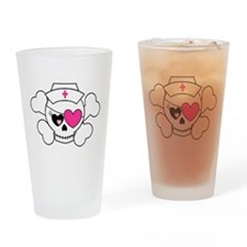 Nurse Pirate Drinking Glass