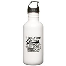 Education Quote Water Bottle