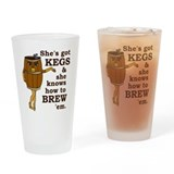 Funny Beer Brewer Drinking Glass