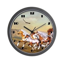 Wild Horses Herd Wall Clock