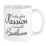 Beethoven Music Quote Piano Small Mugs