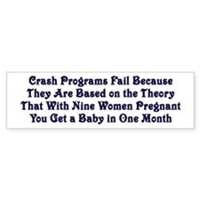 Crash Programs Bumper Bumper Sticker