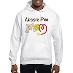 Aussie Poo Dog Mom Hooded Sweatshirt