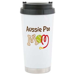 Aussie Poo Dog Mom Ceramic Travel Mug