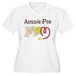 Aussie Poo Dog Mom Women's Plus Size V-Neck T-Shir