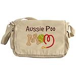 Aussie Poo Dog Mom Messenger Bag