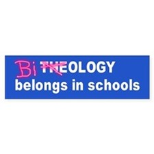 biology in schools... Bumper Bumper Sticker