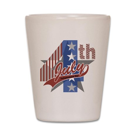 July 4th Shot Glass