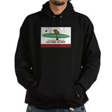 California Surfing Bear Longboard Flag Hoodie