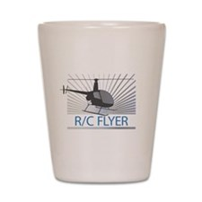 Radio Control Flyer Helicopter Shot Glass