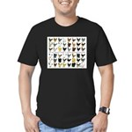 48 Hens Promo Men's Fitted T-Shirt (dark)