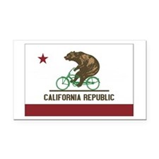 California Beach Cruiser Bear Rectangle Car Magnet