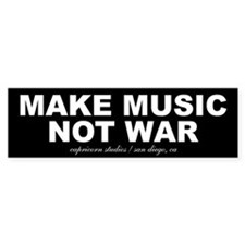 MAKE MUSIC NOT WAR Bumper Bumper Sticker