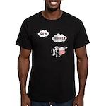 Cow Hugger Men's Fitted T-Shirt (dark)