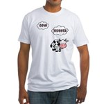 Cow Hugger Fitted T-Shirt