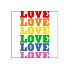 "rainbow-love.png Square Sticker 3"" x 3"""