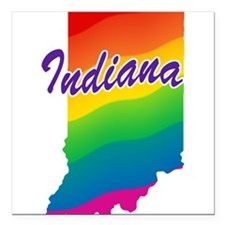 "rb_indiana.png Square Car Magnet 3"" x 3"""