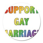 SUPPORT_GAY_MARRIAGE_1.jpg Round Car Magnet