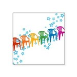 plasticchairrow_rw.png Square Sticker 3