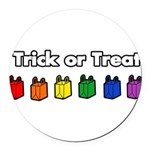 trick-or-treat-rw_tr.png Round Car Magnet