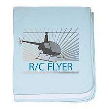 Radio Control Flyer Helicopter baby blanket