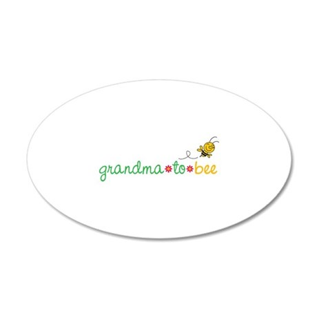 Grandma to bee 22x14 Oval Wall Peel
